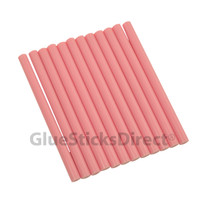 "Pink Faux Wax Colored Glue Sticks mini X 4"" 12 sticks"