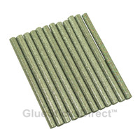 "Silver Glitter Faux Wax Glue Sticks mini X 4"" 12 sticks"