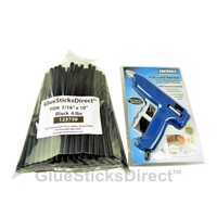 "6 lbs Black PDR 7/16"" x 10"" Glue Sticks & GSDHE-750 80W HT Glue Gun"
