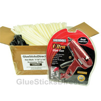 "Economy® 10lb Hot Melt Glue Sticks 7/16"" X 10"" & GSDDT-280F 60W Glue Gun"