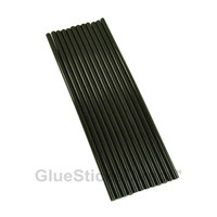 "Black Colored Glue Sticks mini X 10"" 12 sticks"
