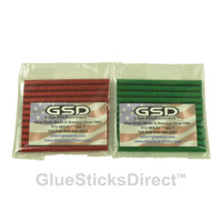 "Red & Green Glitter Colored Glue Sticks Mini 5/16"" X 4"" 24 sticks"