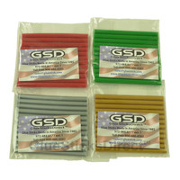 "Red, Green, Gold & Silver Colored Glue Sticks Mini 5/16"" X 4"" 48 sticks"