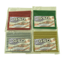"Red, Green, Gold, & Silver Glitter Colored Glue Sticks Mini 5/16"" X 4"" 48 sticks"