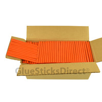 "Orange Colored Glue Stick mini X 4"" 5 lbs"