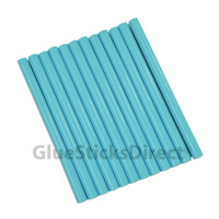 "Turquoise Faux Wax Colored Glue Sticks mini X 4"" 12 sticks"