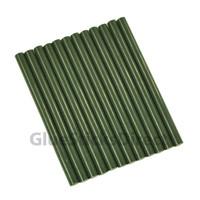 "Army Green Faux Wax Colored Glue Sticks mini X 4"" 12 sticks"