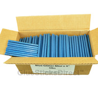 "Blue Glitter Colored Glue Stick mini X 4"" 5 lbs"