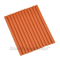 "Burnt Orange Colored Glue Sticks mini X 4"" 12 sticks"