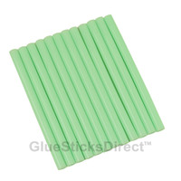 "Pastel Green Colored Glue Sticks mini X 4"" 12 sticks"