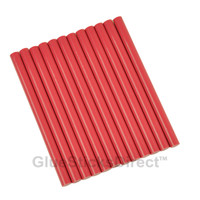 "Rubine Red Colored Glue Sticks mini X 4"" 12 sticks"