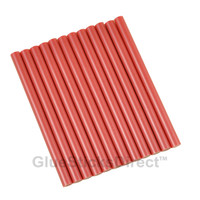 "Red Metallic Colored Glue Sticks mini X 4"" 12 sticks"