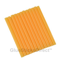 "Translucent Peach Colored Glue Sticks mini X 4"" 12 sticks"