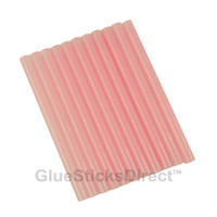 "Translucent Pink Colored Glue Sticks mini X 4"" 12 sticks"