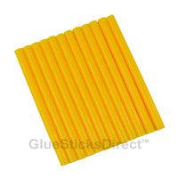 "Banana Yellow Colored Glue Sticks mini X 4"" 12 sticks"