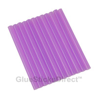"Translucent Purple Colored Glue Sticks mini X 4"" 12 sticks"