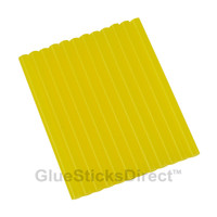"Translucent Yellow Colored Glue Sticks mini X 4"" 12 sticks"
