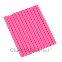 "Neon Pink Colored Glue Sticks mini X 4"" 12 sticks"