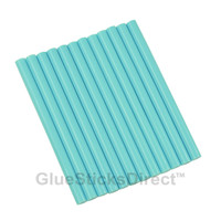 "Pastel Blue Colored Glue Sticks mini X 4"" 12 sticks"