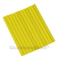 """Neon Yellow Colored Glue Sticks mini X 4"""" 12 sticks"""