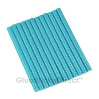 "Neon Blue Colored Glue Sticks mini X 4"" 12 sticks"