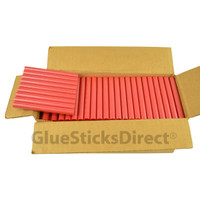 "Red Metallic Colored Glue Sticks 7/16"" X 4"" 5 lbs"