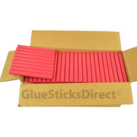 "Rubine Red Colored Glue Sticks 7/16"" X 4"" 5 lbs"