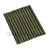 "Black Colored Glue Sticks mini X 4"" 12 sticks"