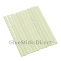 "White Colored Glue Sticks mini X 4"" 12 sticks"