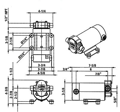 4 Gpm 15 Lpm Hd Gear Pump 24v For Motor Oil Or Diesel Fuel Transfer