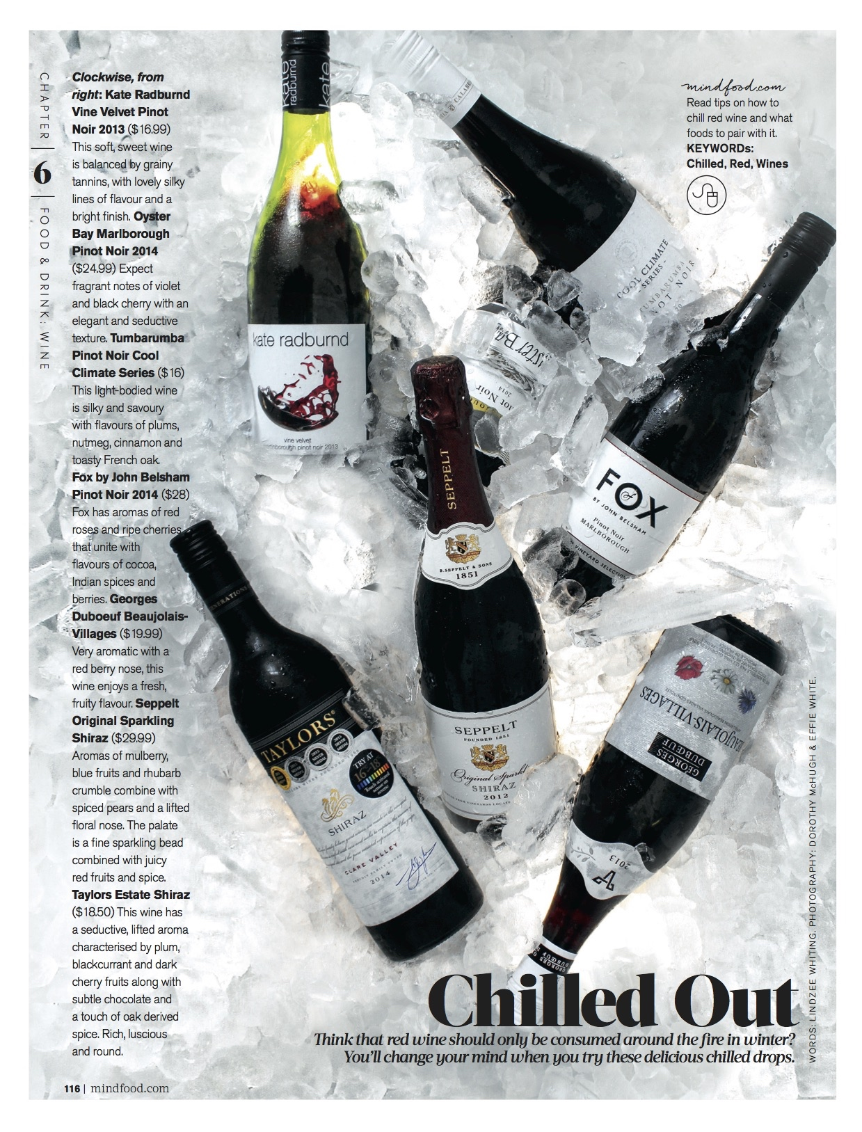 MindFood Magazine Chilled Reds March 2016