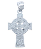 925 Sterling Silver Celtic Cross Medium Pendant