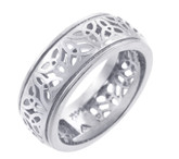 925 Sterling Silver Celtic Band Trinity Knot Ring