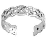 Silver Celtic Trinity Toe Ring