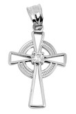 Silver Irish Celtic Cross Pendant