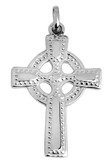 Silver Celtic Cross pendant polished