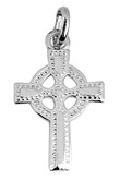 Silver Celtic Polished Cross