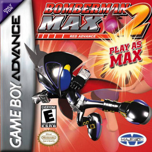 *USED* BOMBERMAN MAX 2 RED [E]