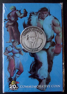 *USED* COMMEMORATIVE COIN STREET FIGHTER 20TH (#452613852918)
