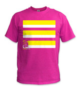 Basic T-Shirt- Yellow/ Pink