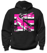 SafetyShirtz - Salmon Safety Hoodie - Pink/Black