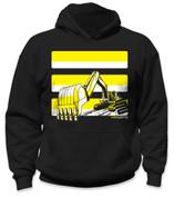 SafetyShirtz - Youth Excavator Safety Hoodie - Yellow/Black
