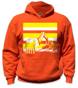 SafetyShirtz - Youth Excavator Safety Hoodie - Yellow/Orange