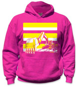 SafetyShirtz - Youth Excavator Safety Hoodie - Yellow/Pink