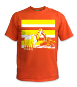 SafetyShirtz - Youth Excavator Safety Shirt - Yellow/Orange