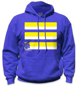 SafetyShirtz - Basic Safety Hoodie - Yellow/Royal
