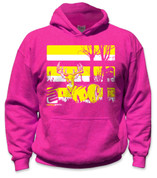 SafetyShirtz - Youth Buck Safety Hoodie - Yellow/Pink