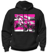 SafetyShirtz - Sprint Car Safety Hoodie - Pink/Black
