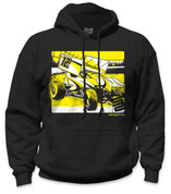 SafetyShirtz - Sprint Car Safety Hoodie - Yellow/Black