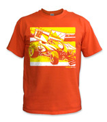 SafetyShirtz - Sprint Car Safety Shirt - Yellow/Orange